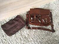 Mans leather sachel