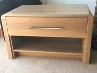 Television cabinet in wood affect
