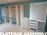 QUICK AND HONEST FLATPACK ASSEMBLY - 5 YR WARRANTY - IKEA PAX - TV MOUNTING - PRO WARDROBE FITTER