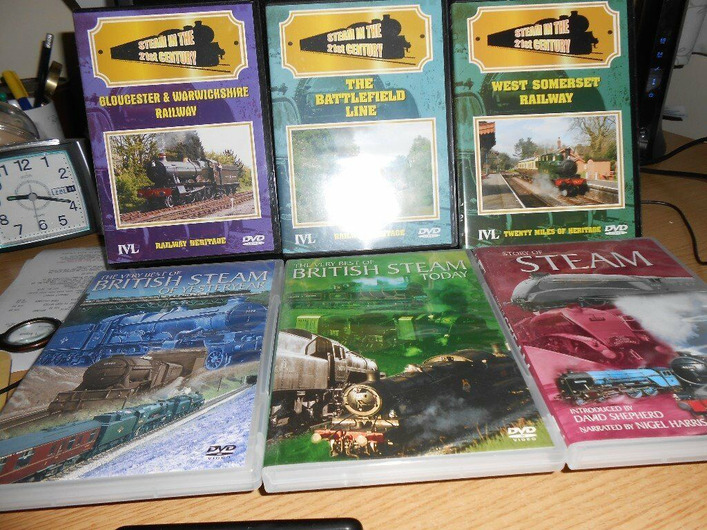 6 STEAM RAILWAY DVDs
