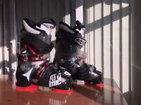 Mens black Atomic Hawx 90 Ski Boots - UK 7.5 Nearly New - only worn once