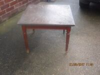 Carved Slate like Top Square Occasional Table......2' Square