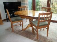 Ducal Pine Victoria Drop Leaf Dining Table & 4 Chairs