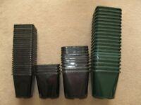 Used Aeroplas Plastic Plant Pots 1 Litre, 1.4 Litre and 2 Litre Very good condition