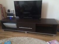 A stylish and modern black TV stand, used but v.good condition