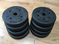 20kg Vinyl dumbbell/barbell weights 8 x 2.5kg