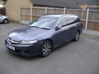 2007 HONDA ACCORD DIESEL ESTATE -BEAUTIFUL ENGINE/BOX/TYRES -LONG MOT 07/19 BUT CLUTCH GONE -SPARES