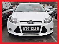(£20 Tax) DIESEL -- Ford Focus 1.6 TDCi -- Titanium -- Nice & WHITE -- Great Spec -- Very Smooth