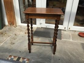 Small occasional table with barley twist legs