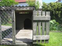 Dog Kennel, 2 sections, overall 90 x 240cm, h.97cm. Secure, good. Buyer collects.