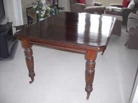 Antique Victorian Wood Extending Dining Table