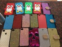 Assortment of Iphone 4 Covers including Ed Hardy