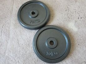 CAST IRON WEIGHT PLATES – 2 X 10KG