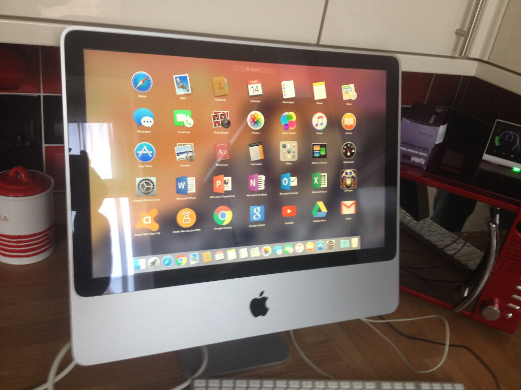 "20"" Imac mid 2007 2GB ram 320GB hard drivein Bradford, West YorkshireGumtree - Imac mid 2007 2GB ram 320GB hard drive os x yoshimite 10.10 microsoft office 2016 5K player no keybord or mouse (unless i find a spare set) screen is mark free very good working order £140 no offers cheap at that price"