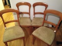 4 lovely dining room chairs