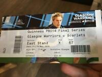 Glasgow Warriors vs Scarlets pro14 semi final