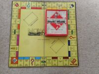 Original monopoly board & box of the usual Money & Cards