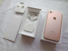 Used UNLOCKED iPhone 7 in Rose Gold - Excellent condition