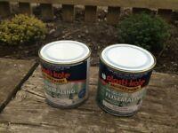 2 x 500ml tins Plasti - Kote Hi Gloss Tile Paint - Brush On