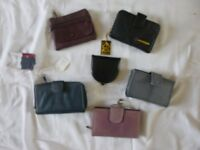 Leather purses all new