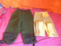 9 X Horse Riding Jodhpurs Assorted sizes from childrens to Adults