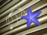 Blue star night light