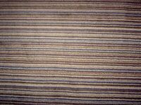 Offcut of striped wool carpet