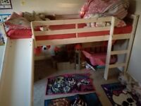 Kids mid sleeper slide bed