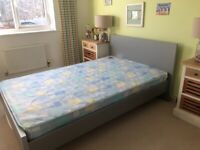 Gaultier contemporary bed 4x6 with mattress. ex cond bed still wrapped
