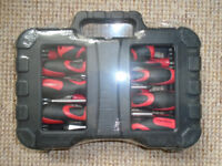 BRAND NEW, STILL SEALED, is a 58 PIECE SCREWDRIVER and BIT TOOL SET