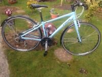 Trek alpha 7.2 ladies 24 speed hybrid/road bike,15cm baby blue frame,700c bontrager at-750 wheels