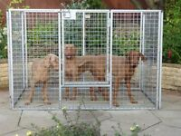 USED HEAVY DUTY (CROFT ONLINE UK) WEATHERPROOF GALVANISED 'DISCOVERY' GATED DOG/PUPPY PLAY PEN