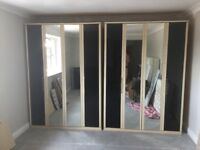 Two wardrobes for sale.