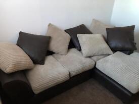 Two corner sofas
