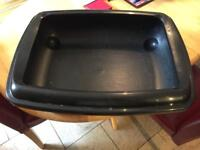 Cat Litter Tray,Cat Litter and Feeding Tray.