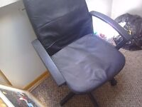 Office chair Black Leather Effect Swivel function