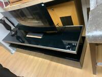 black and chrome tv unit