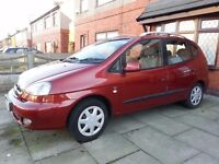 2007 CHEVROLET TACUMA SX. EXCELLENT COND. LOW MILEAGE. TOW BAR. LADY OWNER. NON-SMOKER. £1100.00