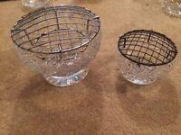 2 sizes crystal bowl vases
