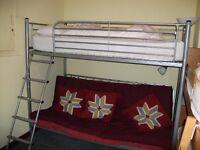 KD Metal Futon Bunk Bed - FREE!