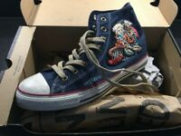 Converse Limited Edition Chuck Taylor All Star Flower Patchwork Denim Size 9.5