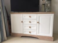 Large solid sideboard painted with Annie Sloan