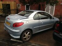 Peugeot 206 for sale, new MOT and new tyres