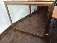 This is a Morris Mirrors Large Mirror 150cm X 105cm Gold look finish See pics. In good condition