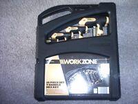 work zone 16 piece set t-handle hex key new