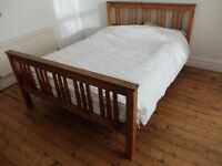 SOLID WOOD SLATTED QUALITY DOUBLE BED FRAME - NEAR LEEDS CITY CENTRE