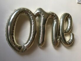 1st Birthday Foil Balloon