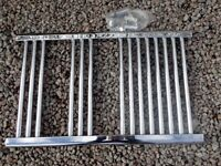 Chrome towel rail radiator. 800 x 500 mm