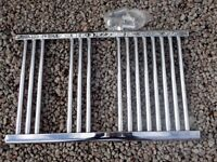 Chrome towel rail radiator. 800 x 500 mm
