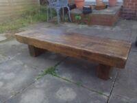 Beautiful rustic, chunky coffee table